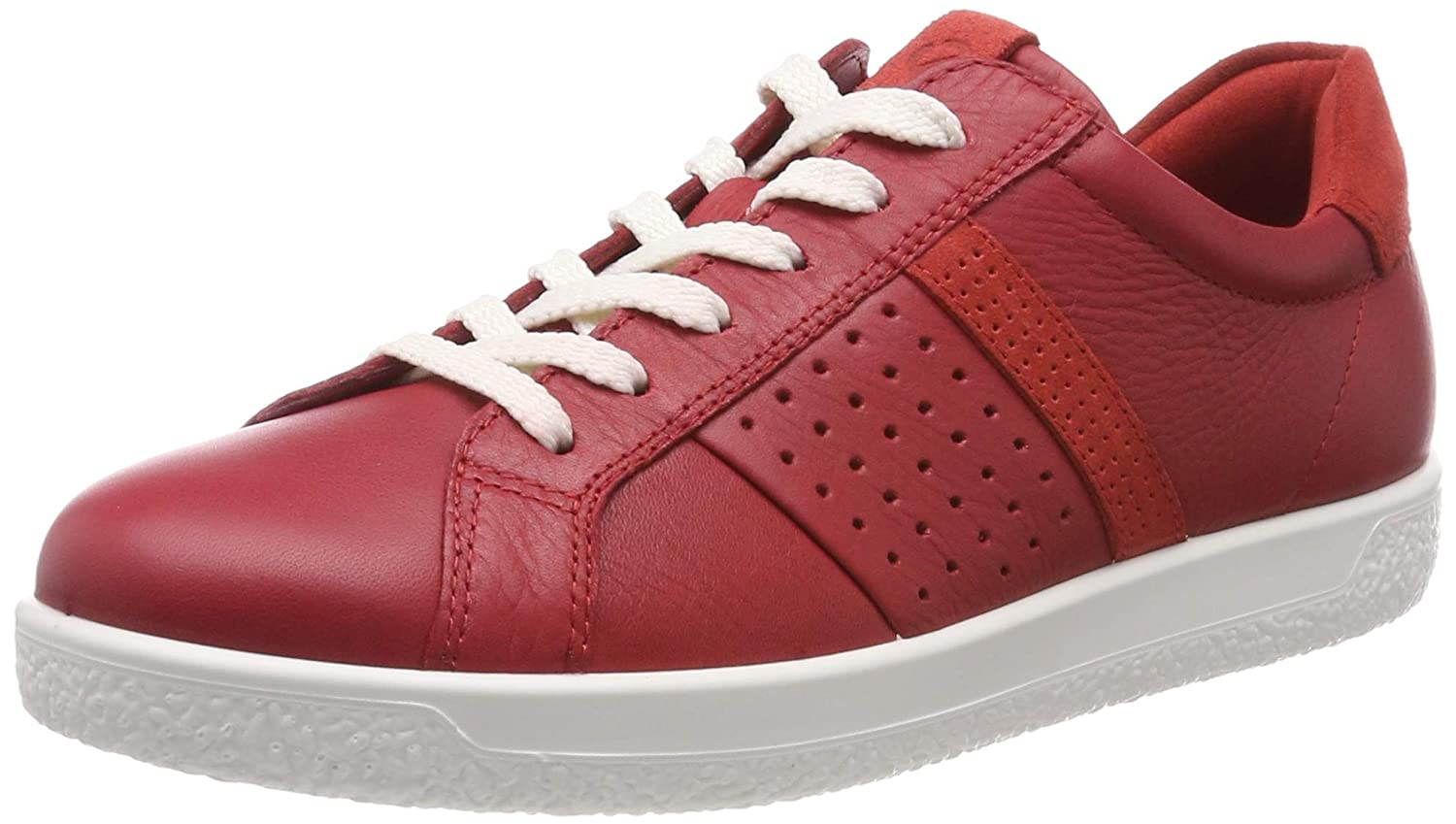 a3dfa97043 Amazon.com | ECCO Women's Soft 1 Ladies Low-Top Sneakers, (Chili Red ...