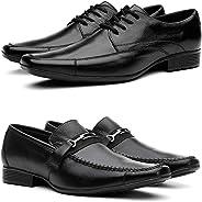 Kit Black 2 Pares de Sapato Social em Couro