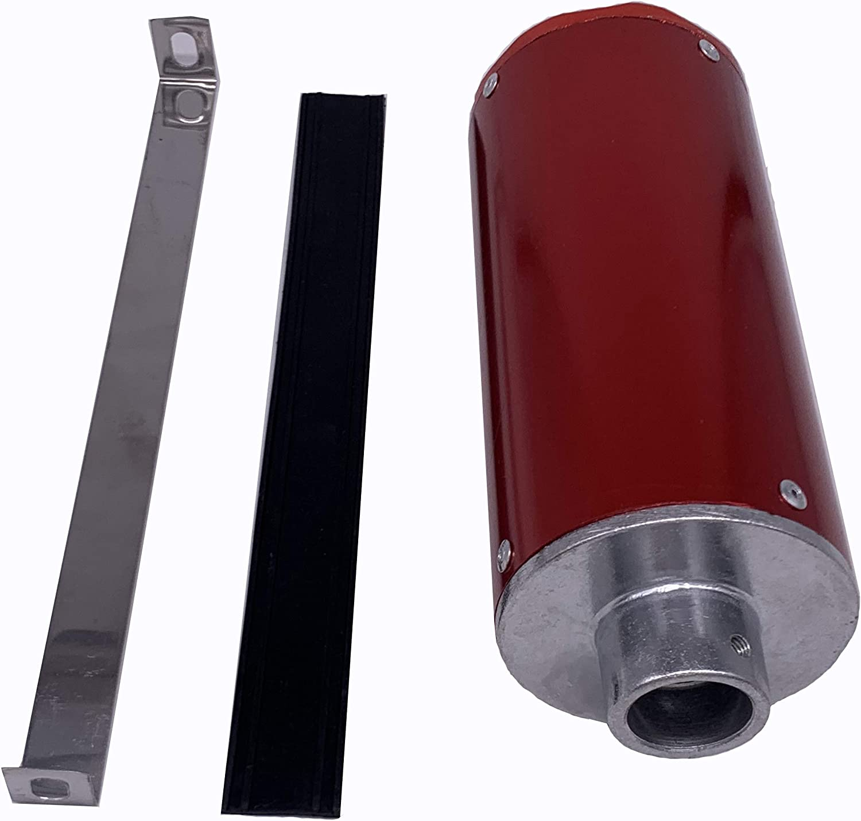 Red 28mm Muffler Exhaust For honda CRF50 CRF 50 XR50 XR 50 110cc 125cc 140cc Dirt Pit Bike