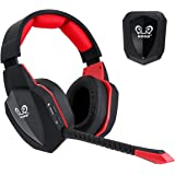 HUHD Universal 2.4Ghz Optical Wireless Gaming Headset with Detachable Mic