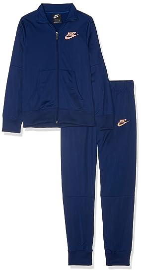 3306060db9b5d Nike Survetement G NSW TRK Tricot, Filles XS Multicolore - Bleu (Blue Void/