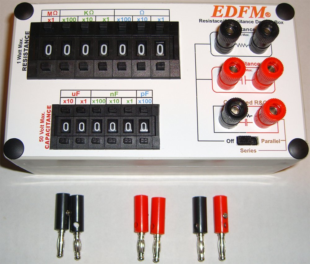 Edfm Resistance Capacitance Decade Box With Rc Network Resistors And Capacitors In A Circuit Capacitor Home Improvement
