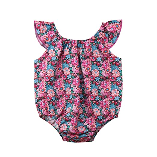 Summer Newborn Baby Girl Cute Sleeveless Romper Bodysuit Jumpsuit Clothes Outfit