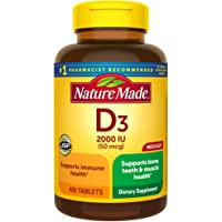 Nature Made 400 Count Vitamin D3 2000 IU (50 mcg) Tablets