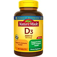 Nature Made Vitamin D 2000 IU Tablets, 400 Count