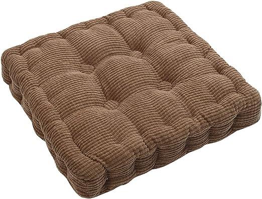 tonywu Almohadillas para tumbonas, Cojín de Banco Cojín de Banco de jardín de algodón de 2 plazas, para Banco de jardín para jardín o Columpio 45x45cm marrón-6: Amazon.es: Hogar