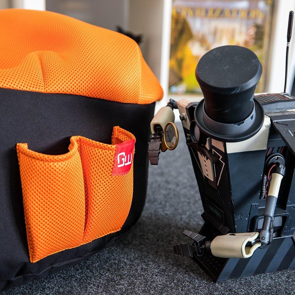 Gamewarez BBCM06KF00 Gaming Seatbag-Kids Fire Polyester, 75 x 55 x 70 cm Arancione