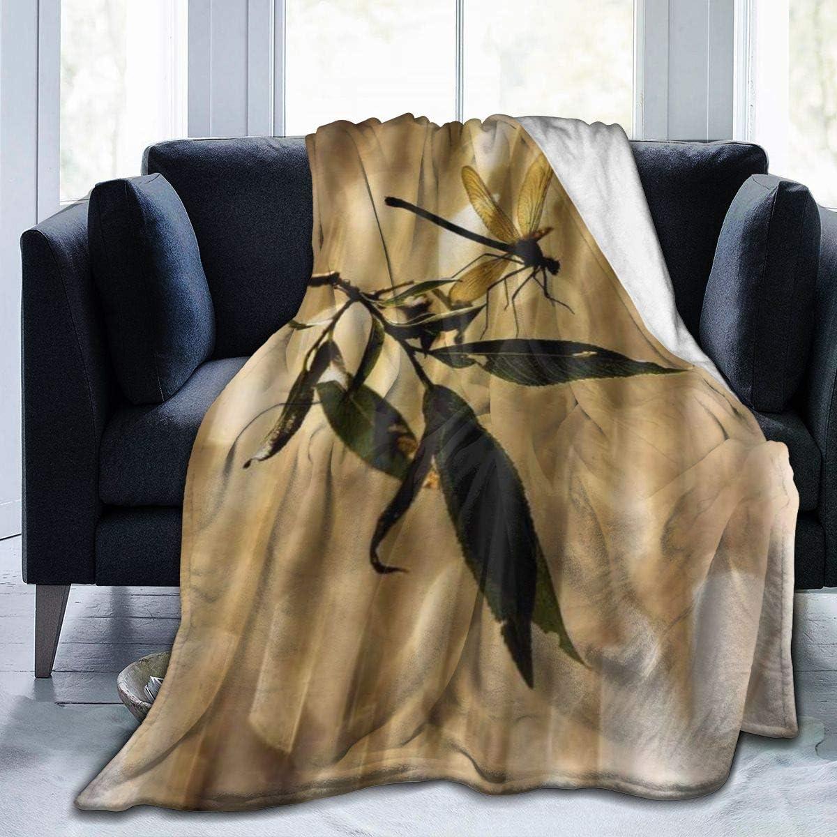 WINCAN Soft Fleece Throw Blanket,Libellule Blink Sunlight Design,Home Hotel Sofá Cama Sofá Mantas para Parejas Niños Adultos,120x150cm