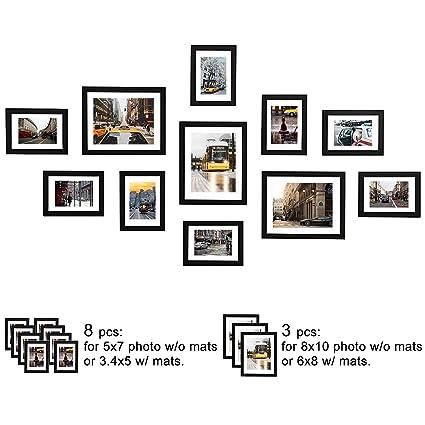 84ff8be494f WOOD MEETS COLOR 11 Pcs Picture Frames Set