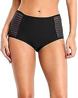 ALove Women's Strappy Bikini Bottom Solid Black Swim Shorts Briefs
