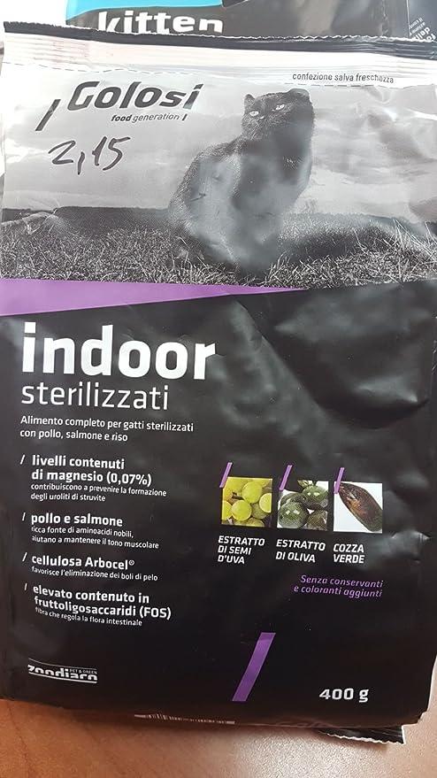 Comida Alimento completo para gatos sterilizzati con pollo Salmón y Arroz 400 gr. By zodiacal