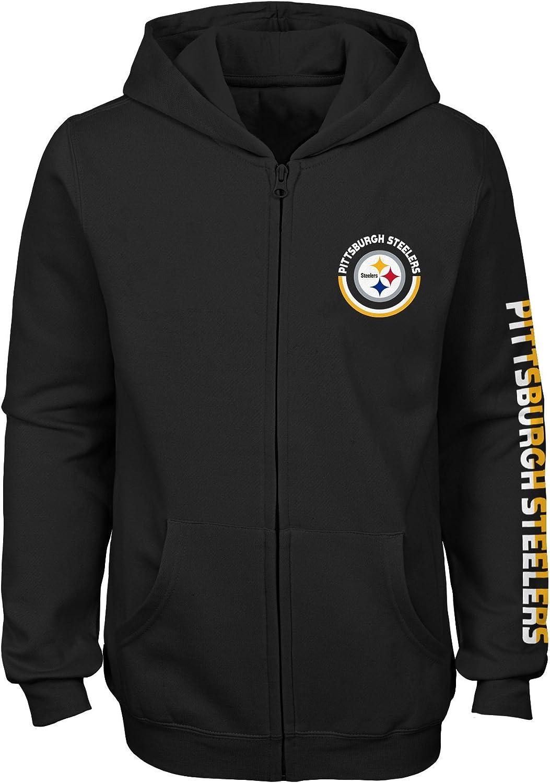 NFL Girls Outerstuff Brilliant Full Zip Fleece Hoodie