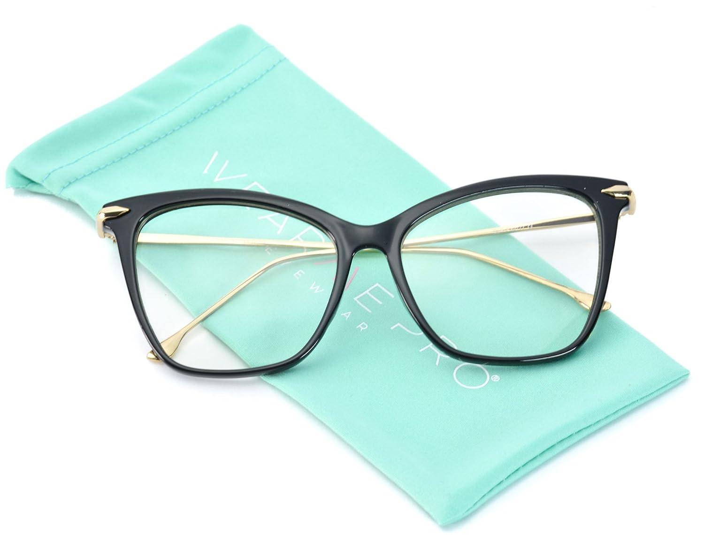 bdb61bf0f7 WearMe Pro - New Elegant Oversized Clear Cat Eye Non-Prescription ...