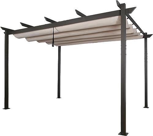 Ulax Furniture Outdoor 10'x13' Extra Large Aluminum Pergola