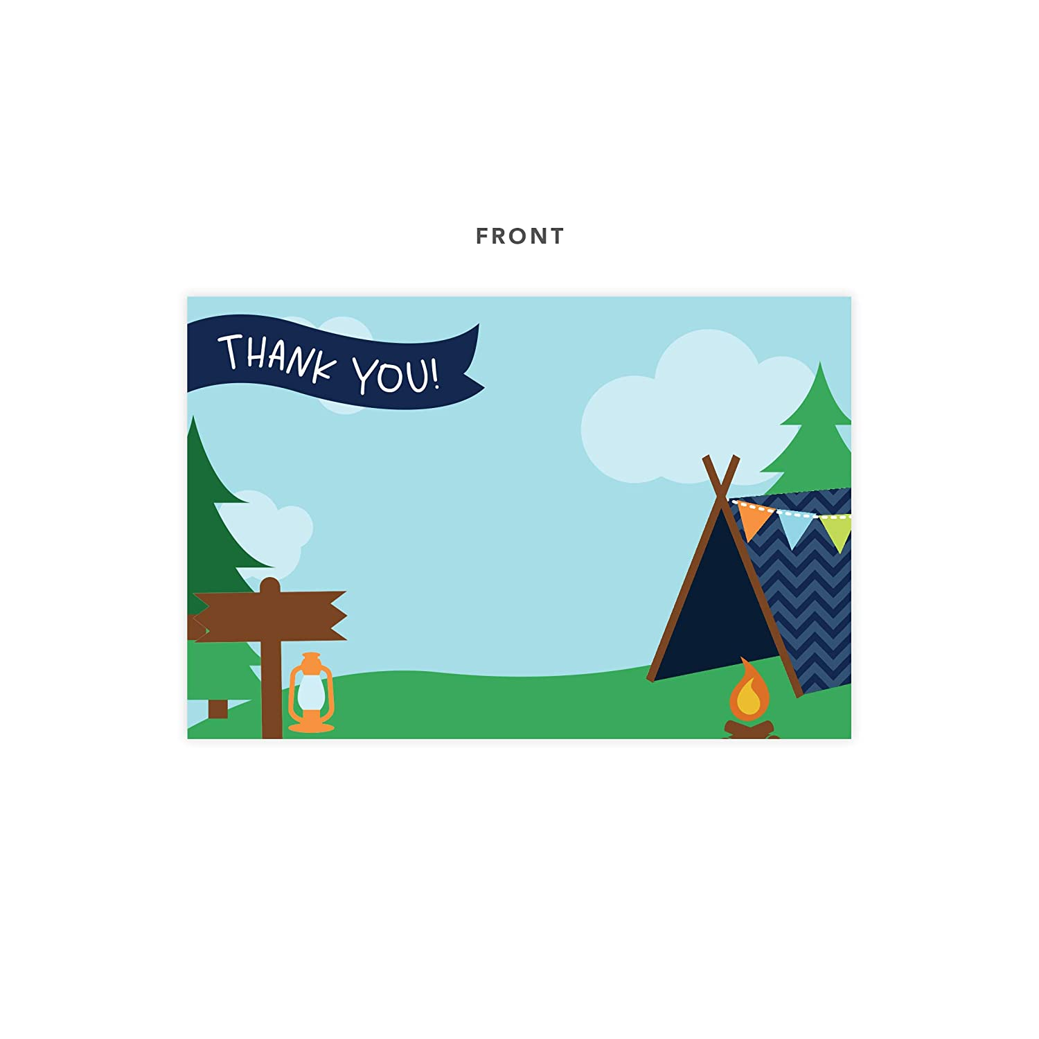 25ct 25 Count With Envelopes /& Seal Stickers Bulk Birthday Party Bridal Blank Graduation Kids Children Boy Girl Baby Shower Camping Thank You Cards