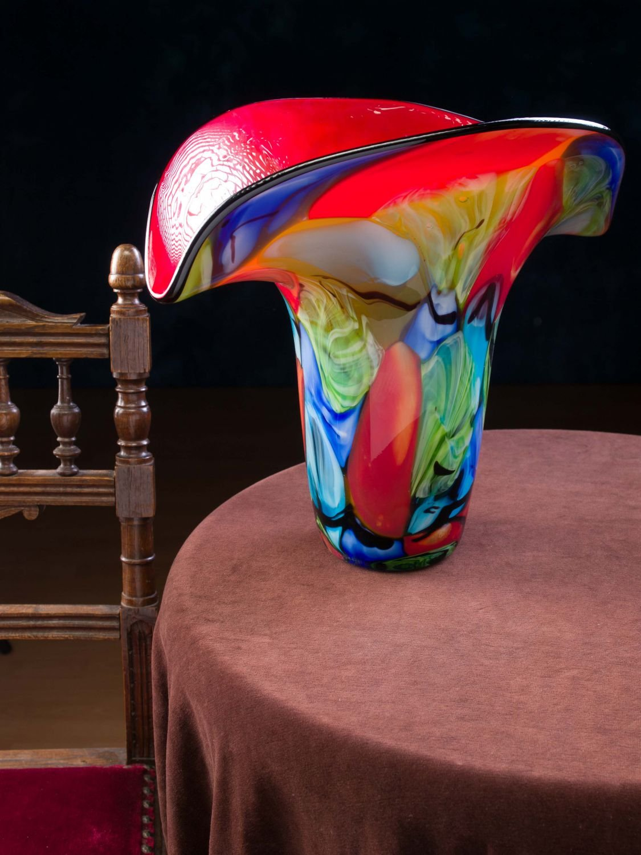 Glasvase Glas Vase im Murano Stil glass vase massive Tischvase 4,1kg