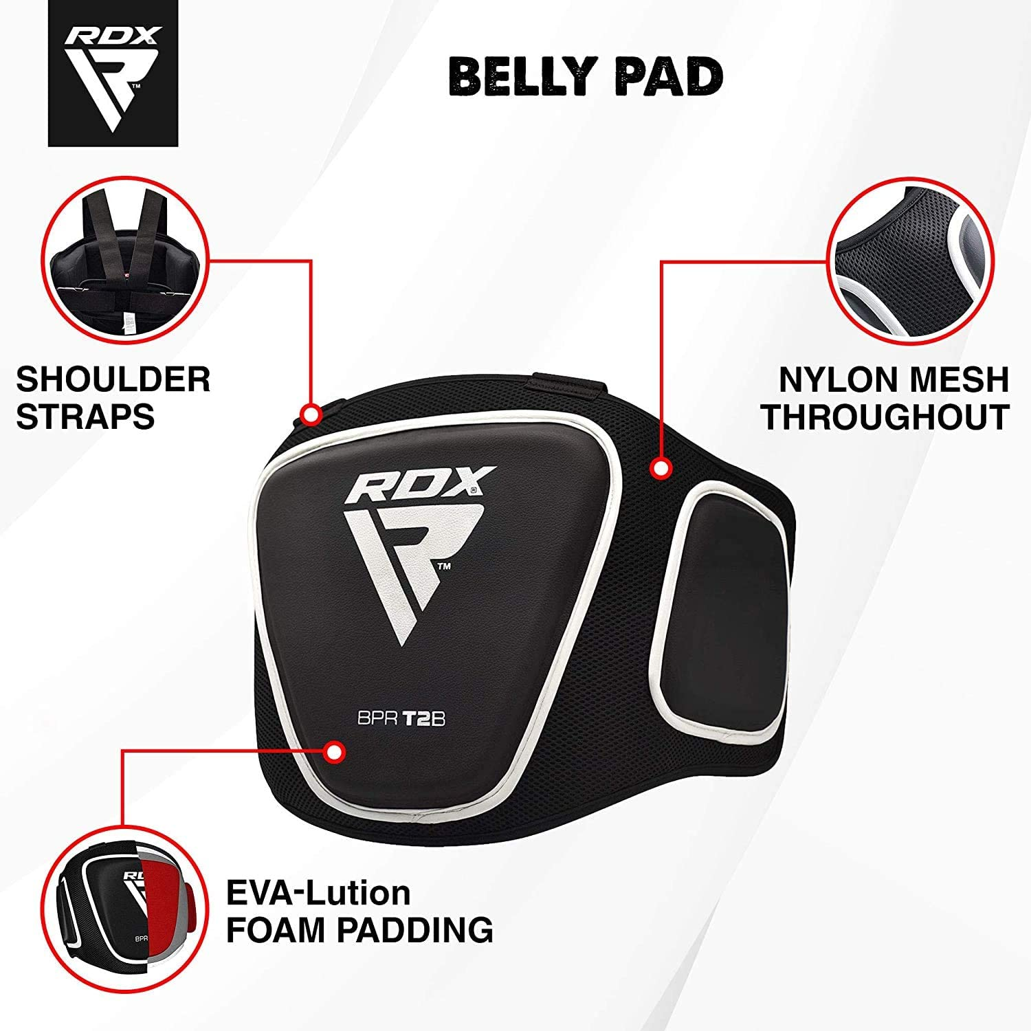 MAR INTERNATIONAL Pro Muay Thai Boxing MMA Training Body Protector Belly Pad Training Aid Belly targets body shield belly guard striking shield