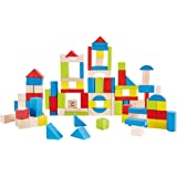 Hape Kid's Wooden Building Block Set (100 pieces)