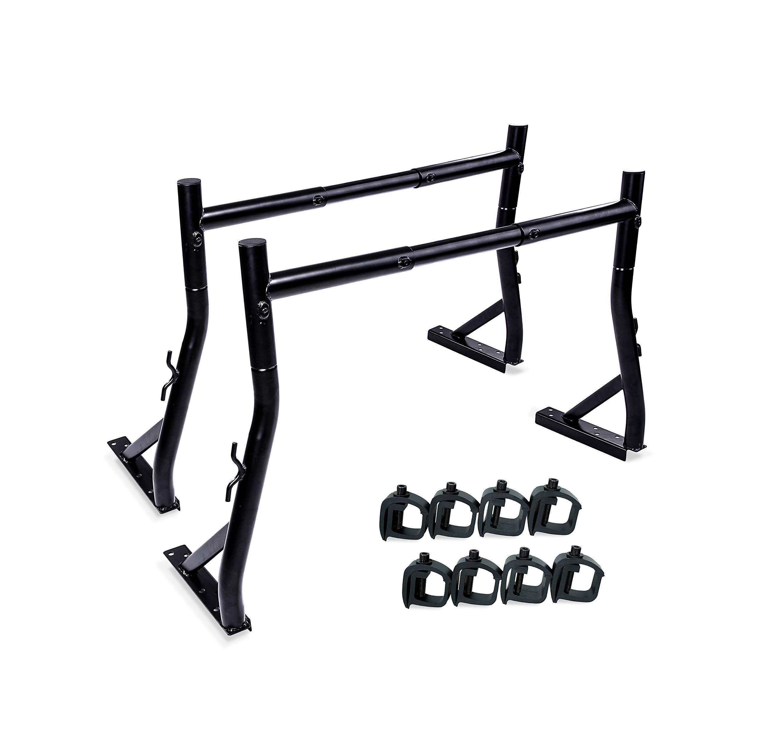 AA-Racks Model X34 Universal Truck Trailer Rack with (8) Non-Drilling C-Clamps Small Pick-up Truck Rack Ladder Lumper Utility