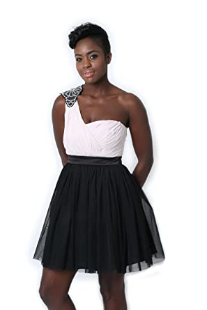 Lipsy One Shoulder Prom Dress (Size 10)