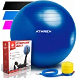 Exercise Ball with Pump (Different Sizes & Colors) - 2000lbs Anti-burst Yoga Ball - Also Known as: Fitness Ball, Swiss Ball - Multiple Colors