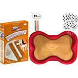 Dog Birthday Party Supplies   Puppy Cake Peanut Butter Dog Cake Mix and Frosting   7x10 Dog Bone Silicone Shaped Cake Pan   6 pack Dog Paws Balloons   Birthday Candles (Styles May Vary)