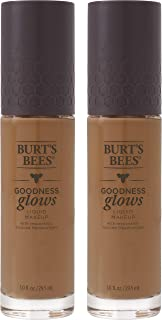 product image for Burts Bees Goodness Glows Liquid Makeup, Chestnut - 1.0 Ounce (Pack of 2)