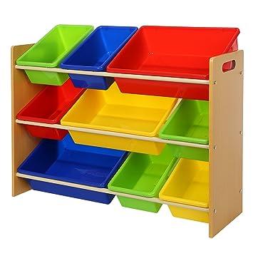 songmics scaffale per bambini mensola contenitore porta giocattoli ... - Scaffali Per Bambini