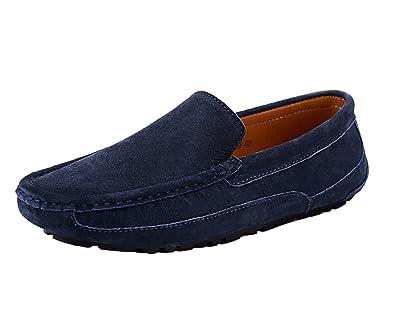 Herren Mokassin Casual Wildleder Suede Fahren Schuhe Halbschuhe Blau 44 ICEGREY Neue Stile Spätestens Zum Verkauf s2xBA