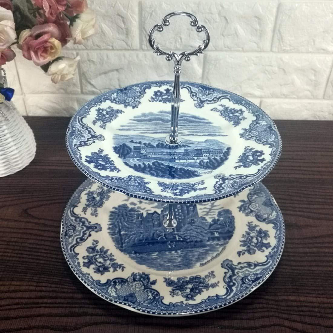 QPGGP-Teller Blaue Schloss Keramik, westlichen Stil Steak, Platten, kaffeetassen, Dekorationen, Platten,m