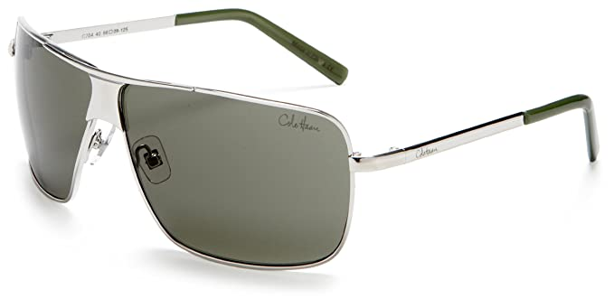 a0d57dac520 Cole Haan Men's C704 Stamped Metal Sunglasses, Rhodium Frame/G-15 Lens,