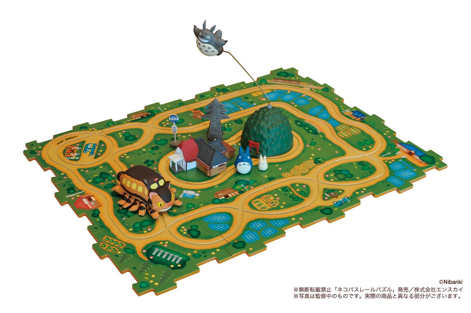 Studio Ghibli My Neighbor Totoro Cat Bus Rail Jigsaw Puzzle Japan Import