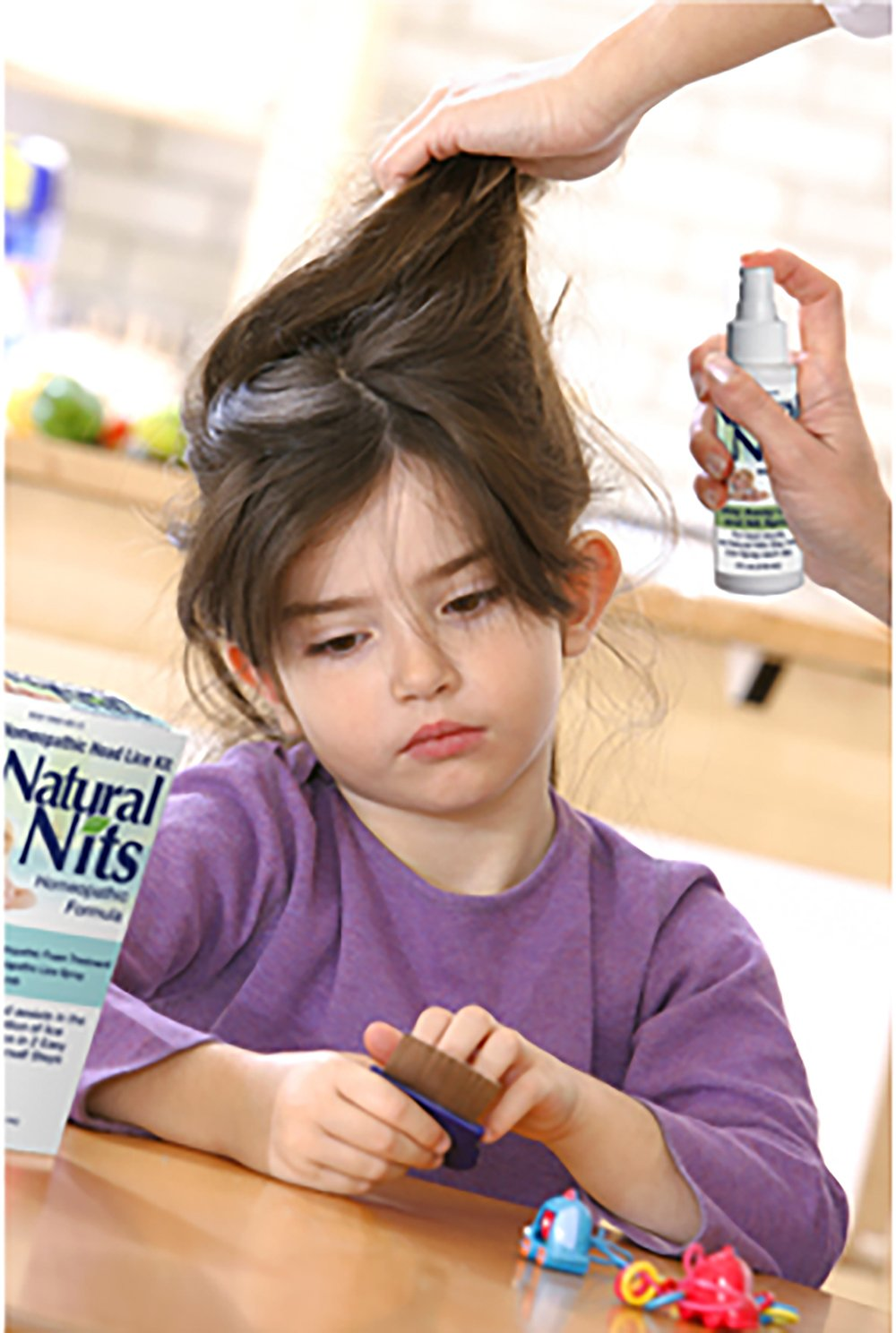 Natural Nits Advanced Lice Treatment Foam **100% All Natural Ingredients - Kills Super Lice Non-Toxic 4oz WITH Comb