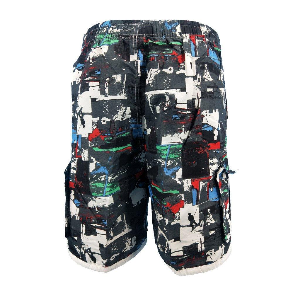 Ennglun Mens Swim Shorts Mens Swimwear Plus Size 3D Printed Beach Shorts Beachwear for Boy