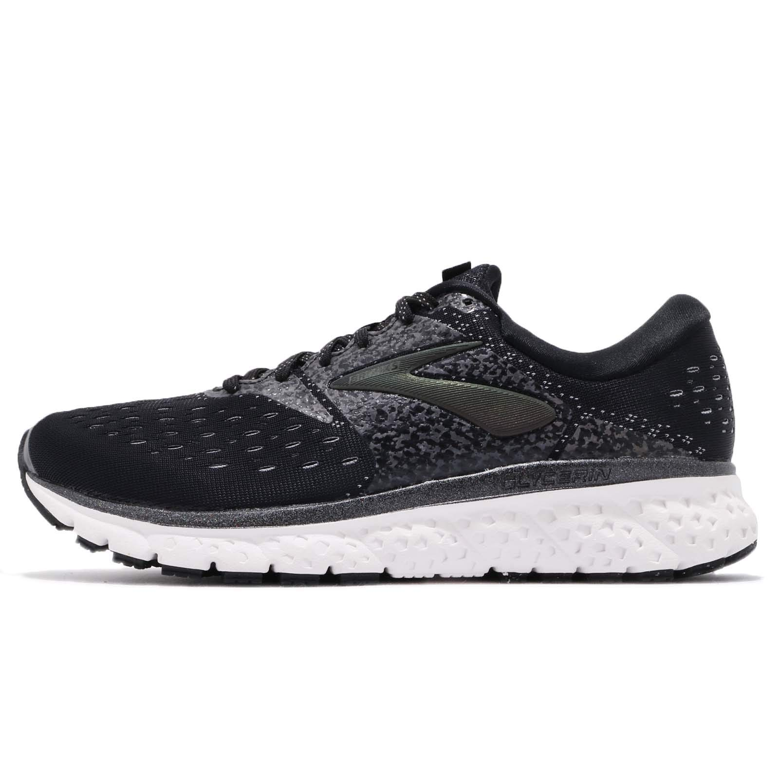 Brooks Mens Glycerin 16 - Reflective Black/White/Grey - D - 10.5