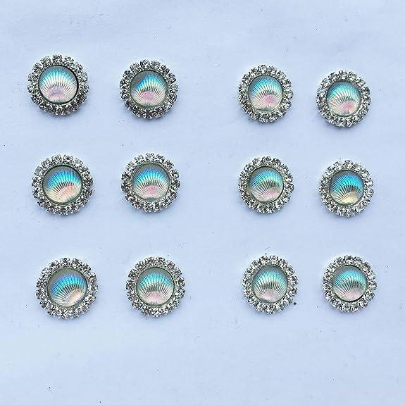 Real Shell Earrings LOVED EARS by {118} 12 Sea Shell Ear Plugs Gauges Pair 12mm Heart Shaped Mermaid Glitter Beach Life Body Jewelry