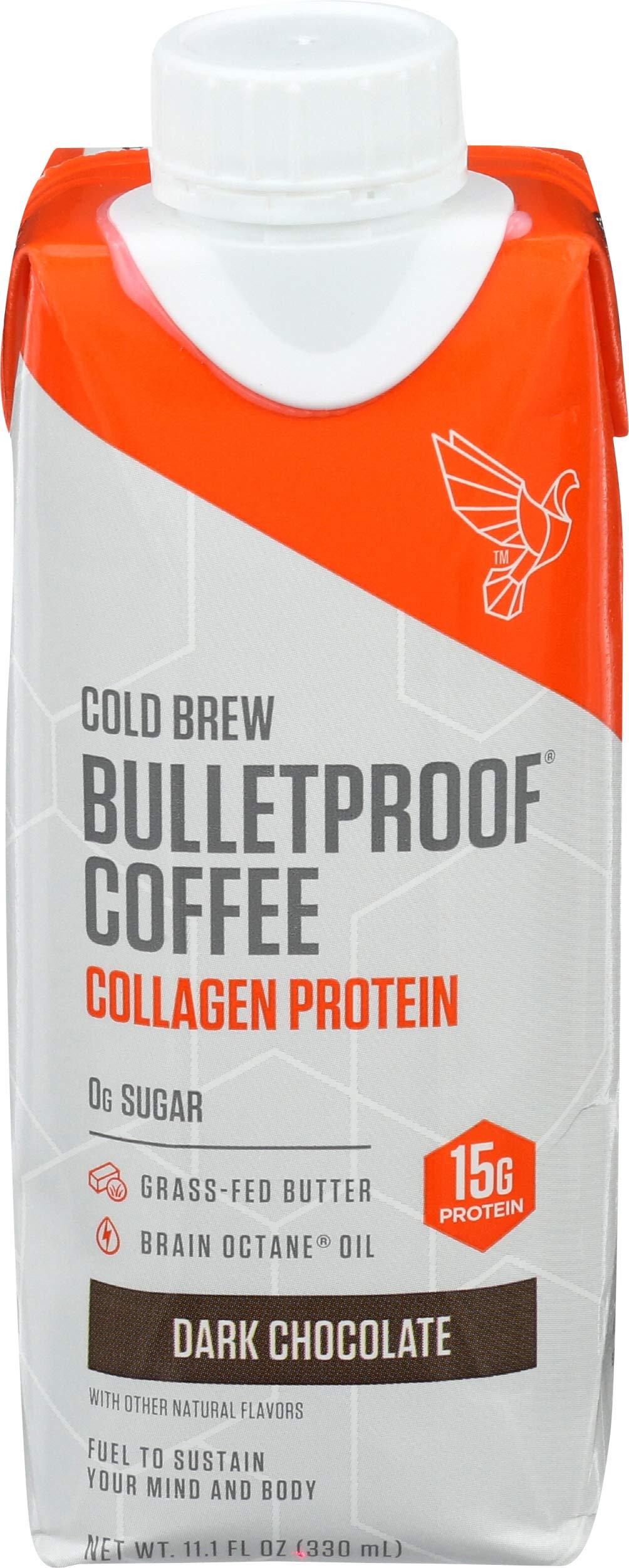 Bulletproof, Cold Brew Dark Chocoalte With Collagen, 11.1 Fl Oz