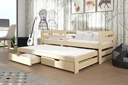Marca nueva cama nido con cajones de madera Senso en pino con colchones se vende por