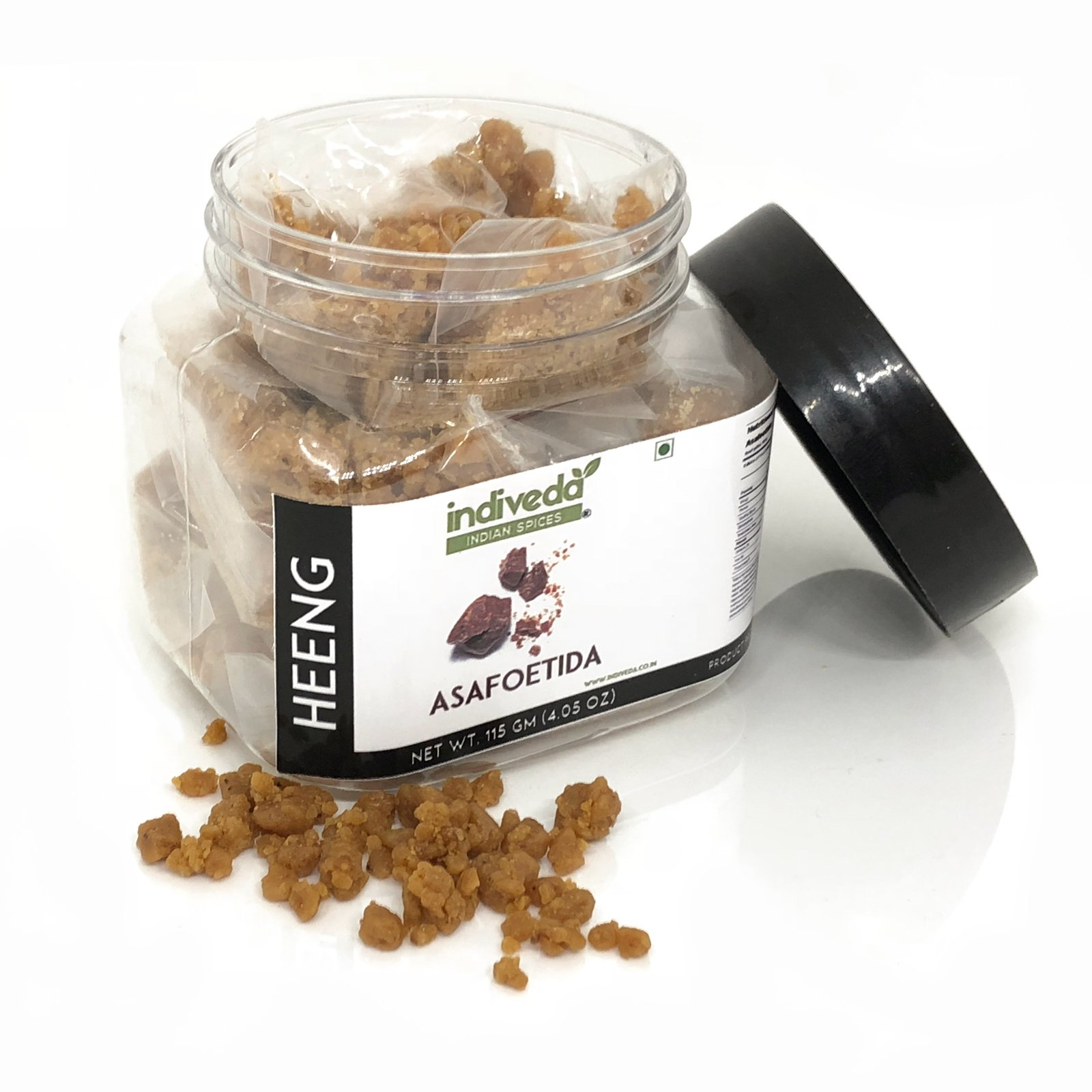 Indiveda Whole Asafoetida (Heeng) - Strong Aroma Indian Seasoning Spice, 115gm (4.05oz))