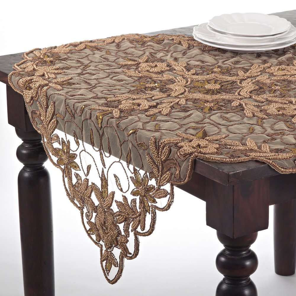 Incroyable Amazon.com: Stunning Cersei Hand Beaded Elegant Gold Tablecloth, 40 Inch  Square, One Piece: Home U0026 Kitchen