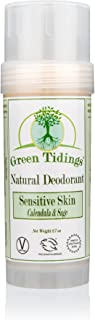 product image for Green Tidings Natural SENSITIVE SKIN Deodorant, Calendula & Sage (2.7 Ounces)