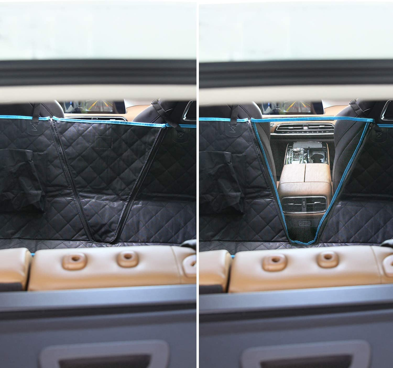 SUPSOO Car Seat Covers Dogs Back seat Covers Black 100/% Waterproof and Scratchproof /& Nonslip Backing /& Hammock Convertible and Side Flaps for Cars//Trucks//SUV