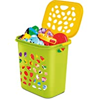 Milton Hamper Laundry/Toy Organizer Basket, 35 litres, Lemon Green