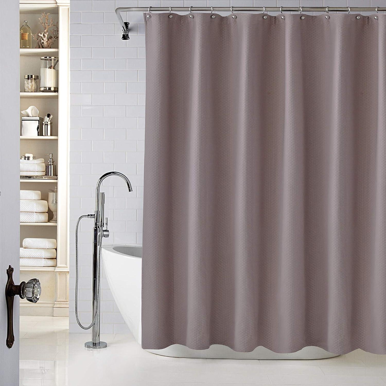 Lamont Home Diamond Matelasse Stall Shower Curtain, Dusty Lavender