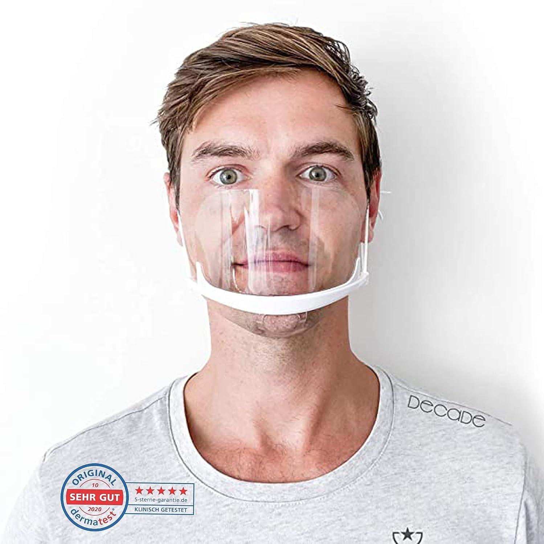 8X Mund Nasen Visier transparent Gesichtsmaske Gesichtsschutz Gesichtsvisier