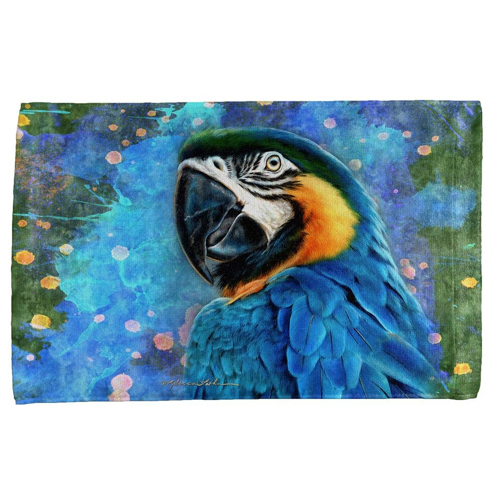 Blue Hyacinth Macaw Splatter All Over Hand Towel Multi Standard One Size