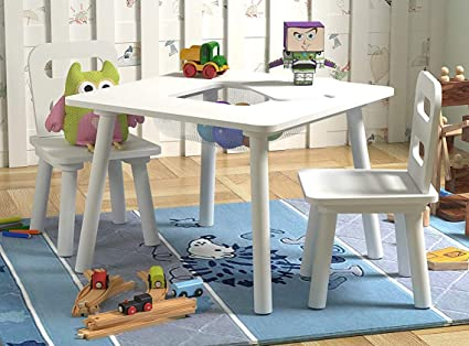 Superb Amazon Com Pidoko Kids Table And Chairs Set With Storage Pabps2019 Chair Design Images Pabps2019Com