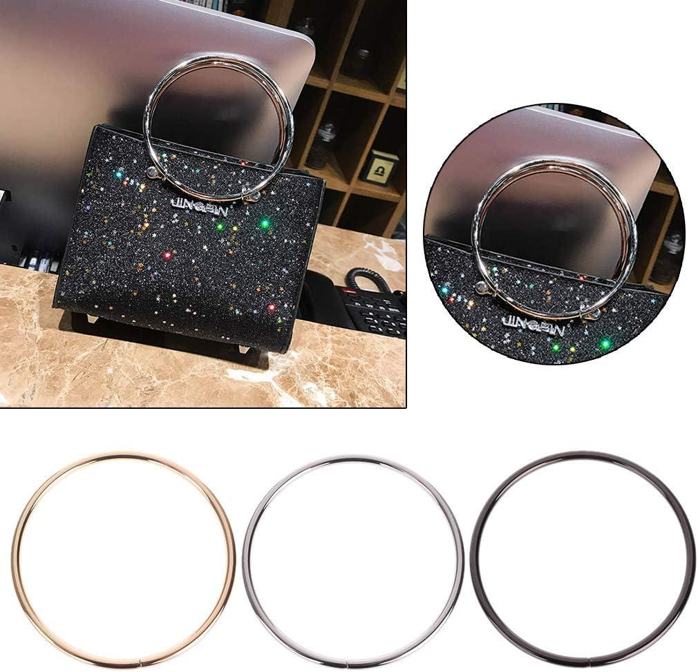 Eliky 1PC Round Metal Ersatz Top Handtaschen Griff Crossbody Bag Teil Zubeh/ör