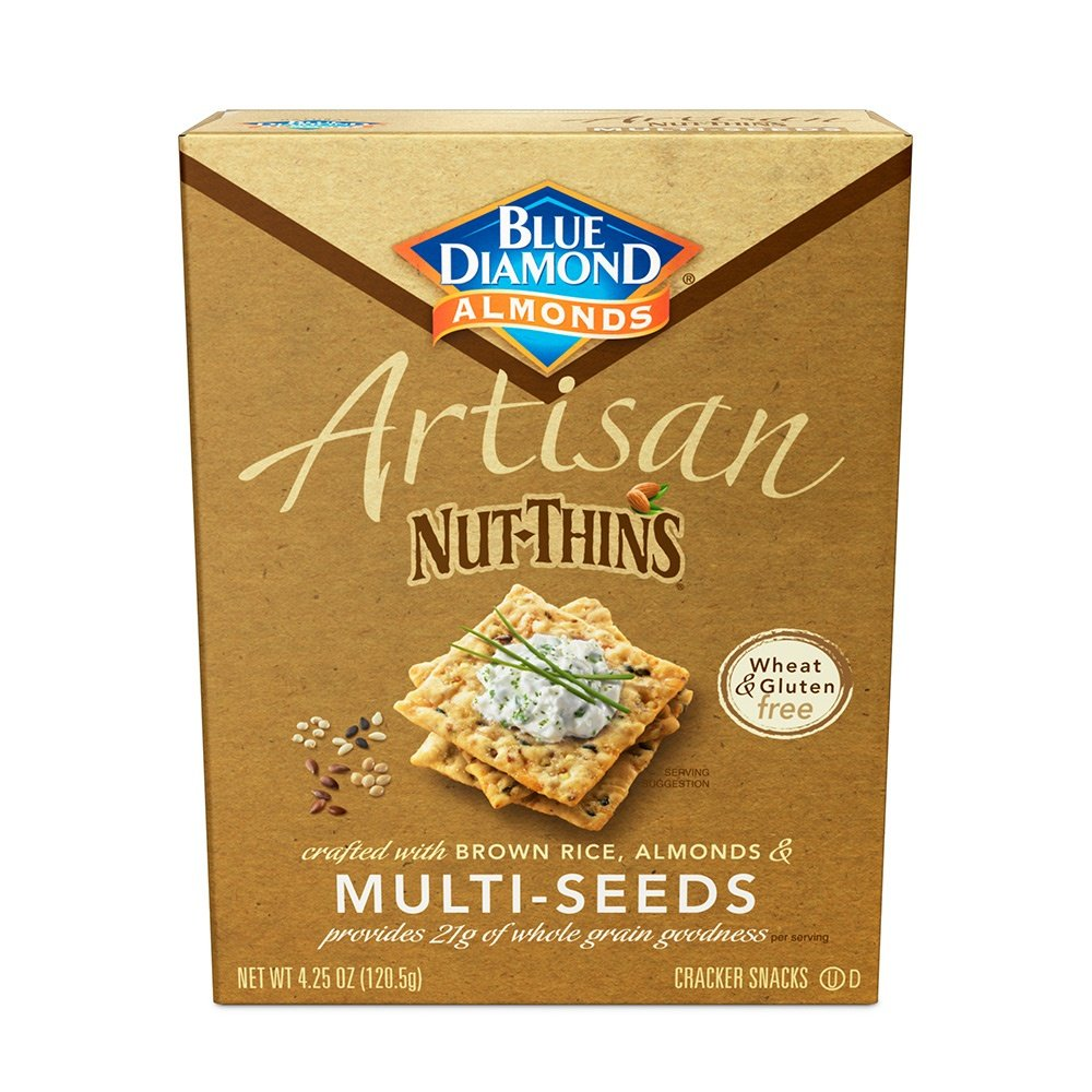 Blue Diamond Almond Cracker Crisps, Multi-Seed, 4.25 oz
