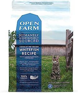 Open Farm Catch-Of-The-Season Whitefish Recipe Organic Sustainable Cat Food Net 4 LB